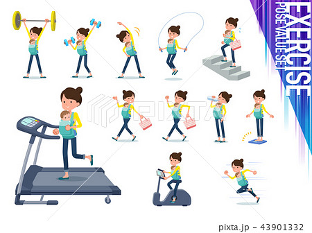 flat type Mother and baby_exercise 43901332