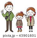 家族 ベクター お出掛けのイラスト 43901601