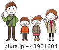 家族 ベクター お出掛けのイラスト 43901604