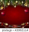クリスマス オーナメント 背景のイラスト 43902114