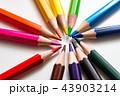 色鉛筆 カラフル いろいろの写真 43903214