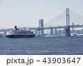 にっぽん丸 豪華客船 横浜ベイブリッジの写真 43903647