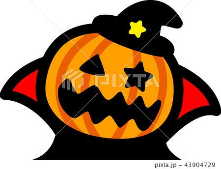 ハロウィン かぼちゃおばけ マントのイラスト素材 43904729 Pixta