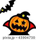 ハロウィン かぼちゃ コウモリ おばけ 43904730