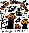 ハロウィン かぼちゃ コウモリ おばけ 墓地 お化け屋敷 十字架 43904733