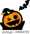 ハロウィン かぼちゃ コウモリ おばけ マント 43904735