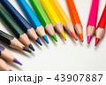 色鉛筆 色えんぴつ カラフルの写真 43907887