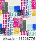 デザイン 柄 抽象的のイラスト 43908776