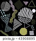 柄 メンフィス パターンのイラスト 43908895