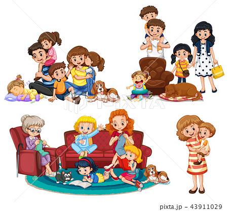 A set of family member 43911029