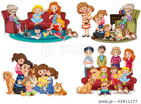 A set of family member 43911177