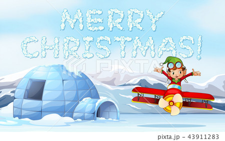 a merry christmas templateのイラスト素材 43911283 pixta