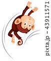 ジャンプ 跳ねる 飛躍のイラスト 43911571