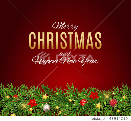 Merry Christmas and New Year Background. Vector Illustration 43914210