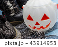 Pumpkin bucket, witch's hat and boots, Halloween 43914953