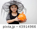 Portrait Asian girl on funny witch clothes 43914966
