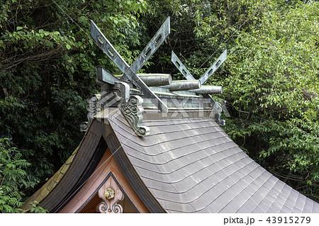 神社の屋根の千木・鰹木 43915279