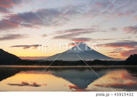 朝焼けの富士山 43915432