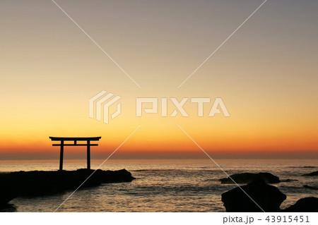 茨城県 日の出前の大洗磯前神社 43915451