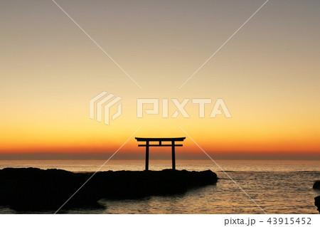 茨城県 日の出前の大洗磯前神社 43915452