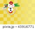 正月 市松模様 ベクターのイラスト 43916771