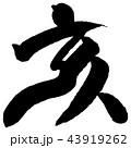 筆文字 亥年 年賀状のイラスト 43919262