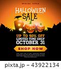 ハロウィン 販売 セールのイラスト 43922134