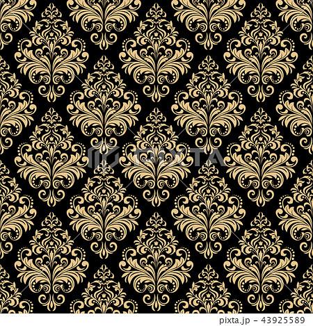 Floral pattern. Wallpaper baroque, damask. 43925589