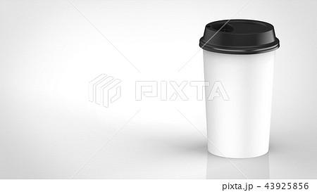 コーヒーカップ 黒蓋 右 43925856