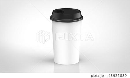 コーヒーカップ 黒蓋 43925889