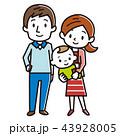 家族 ベクター 幸せのイラスト 43928005