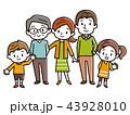家族 三世代家族 三世代のイラスト 43928010