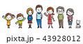 家族 三世代家族 三世代のイラスト 43928012