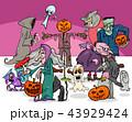 ハロウィン マンガ キャラクターのイラスト 43929424