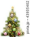クリスマス クリスマスツリー アイコンのイラスト 43935402