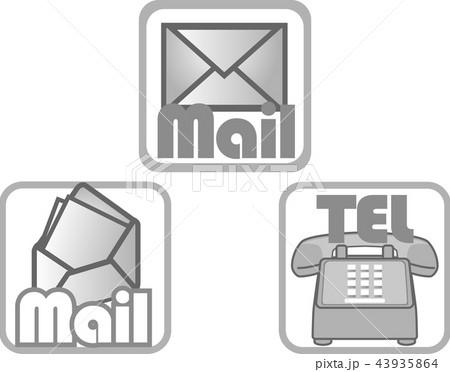 メールマーク・アイコン (連絡3点セットEPS) 43935864
