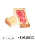 トースト パン ジャムのイラスト 43936033