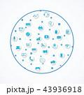通信 コンピュータ コンピューターのイラスト 43936918
