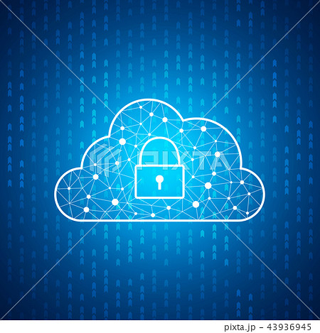 Technology cloud icon with lock , Cyber security 43936945