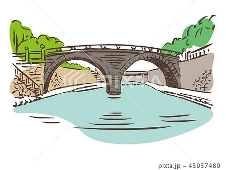 長崎県長崎市眼鏡橋のイラスト素材 43937489 Pixta