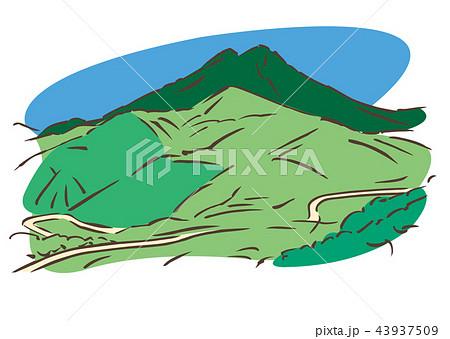 大分県由布市/由布岳のイラスト素材 [43937509] - PIXTA