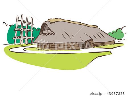 青森県青森市/三内丸山遺跡のイラスト素材 [43937823] - PIXTA