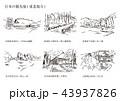 東北地方 日本 観光のイラスト 43937826