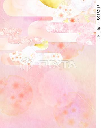和-背景-和紙-春-桜-ピンク 43938218