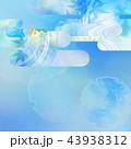 和の背景-和紙-夏-紅葉-ブルー 43938312