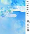 和の背景-和紙-夏-紅葉-ブルー 43938328
