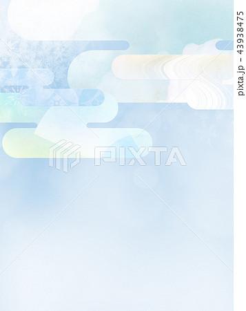 和の背景-和紙-冬-雪-白 43938475