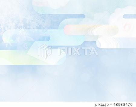 和の背景-和紙-冬-雪-白 43938476
