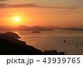 日の出 朝日 瀬戸内の写真 43939765