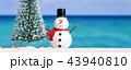 ゆきだるま スノーマン 雪だるまの写真 43940810